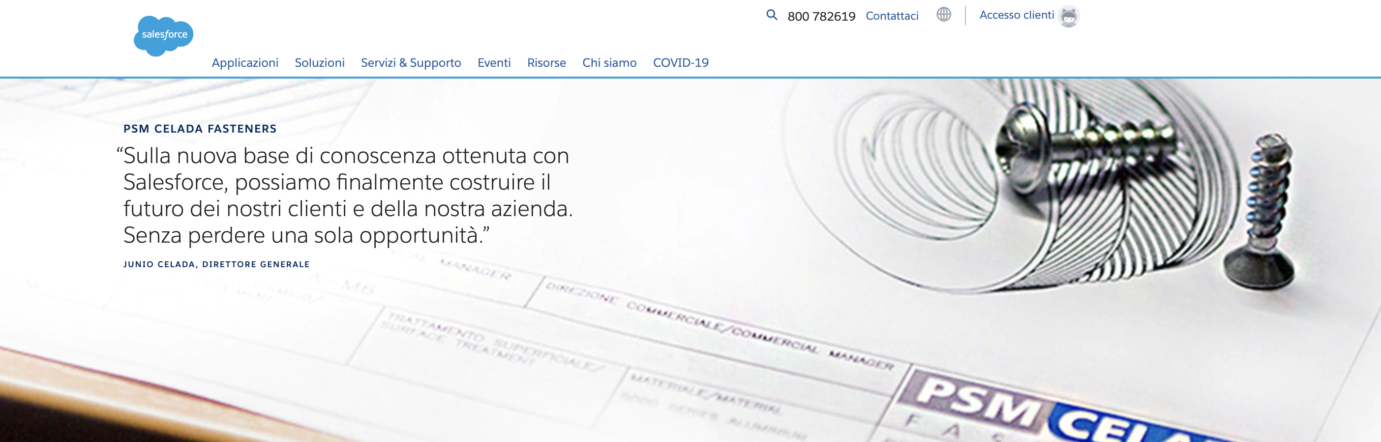 Homepage Salesforce PSM CELADA